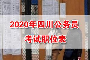 2020年四川公务员考试招录职位表