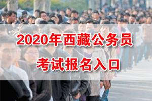 2020年西藏公务员考试报名入口