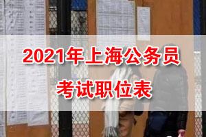 2021年上海市考招录职位表