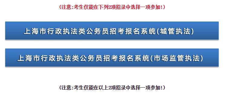 2018年上海行政执法类公务员报名入口