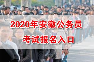 2020年安徽省考網上報名入口