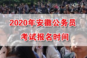 2020年安徽省考網上報名時間