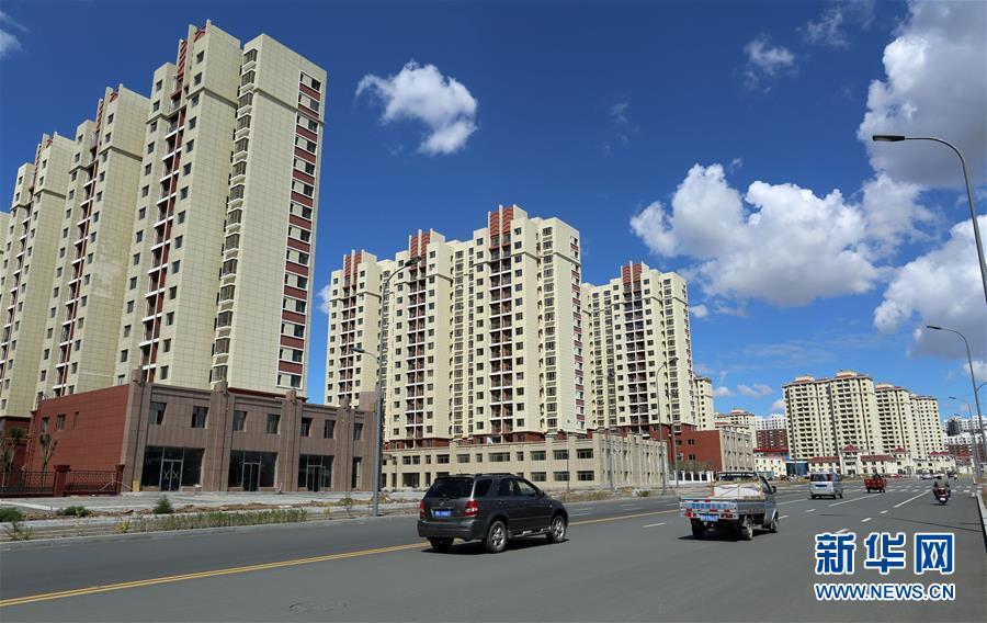 图:内蒙古包头北梁棚改最大的易地搬迁集中安置区北梁新区