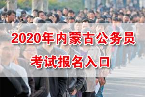 2020年内蒙古公务员考试网上报名入口